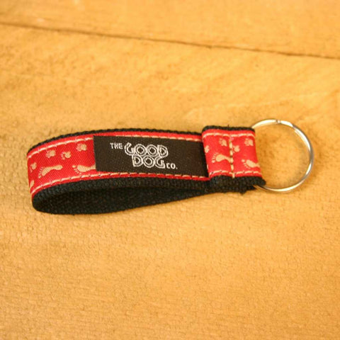 Hemp Key Chain BFF Red