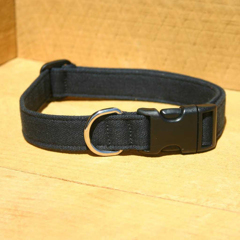 Hemp Dog Collar Black Basic