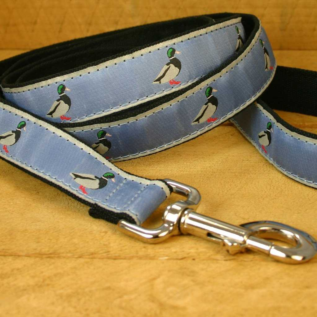 Hemp Dog Leash 6; Slate Blue Mallard