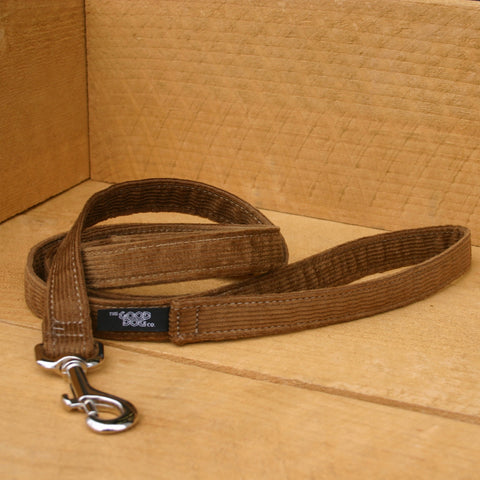 Hemp Dog Leash Bronze Corduroy