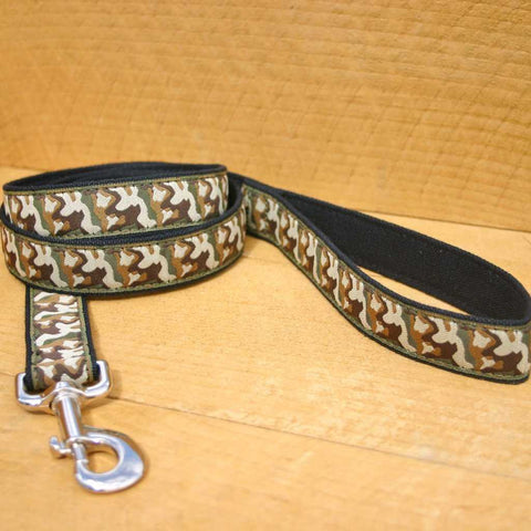 Hemp dog leash Camo six foot leash The Good Dog Company