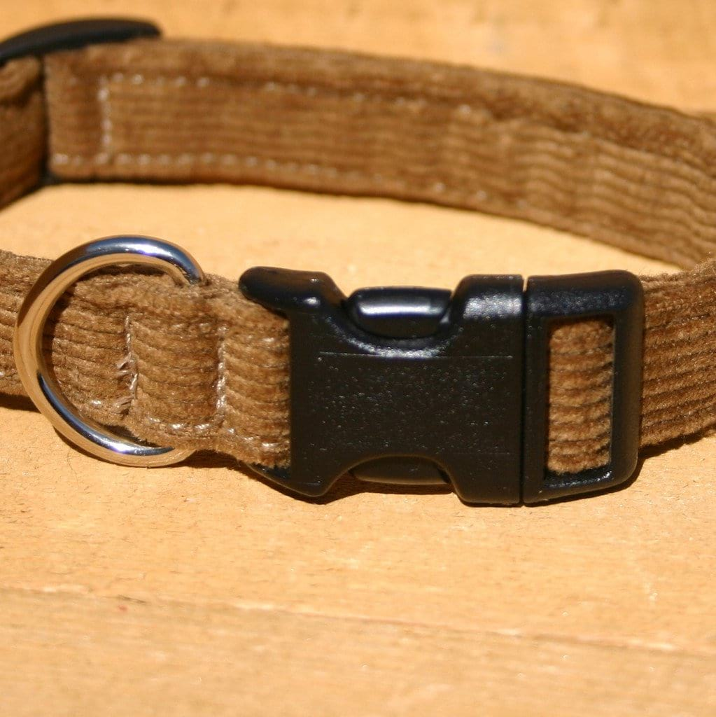 Hemp Dog Collar Bronze Corduroy