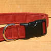 Hemp Dog Collar Rust Corduroy