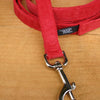 Hemp Dog Leash Red Corduroy
