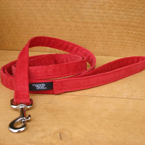 Corduroy Red Hemp Standard Leash | The Good Dog Company