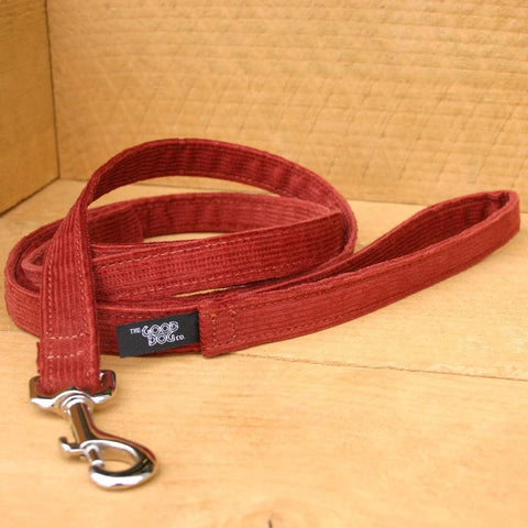 Cord Rust Standard Leash | The Good Dog Company