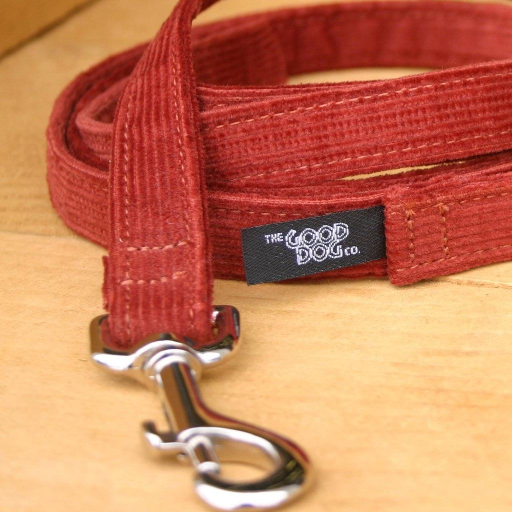 Hemp Dog Leash Rust Corduroy