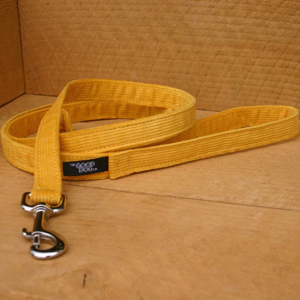 Hemp Dog Leash 6' Marigold Corduroy