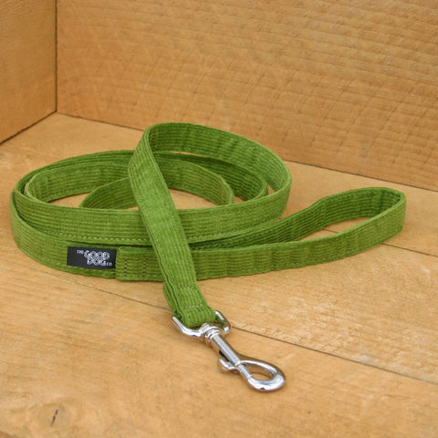 Corduroy Avocado Hemp Standard Leash | The Good Dog Company
