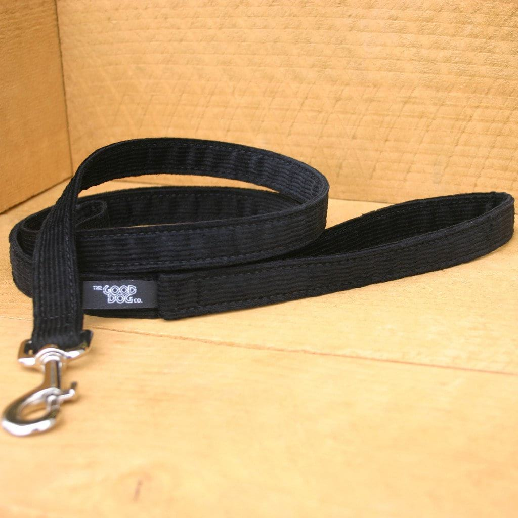 Hemp Dog Leash Black Corduroy