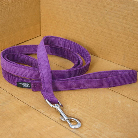 Corduroy Plum Hemp Standard Leash | The Good Dog Company