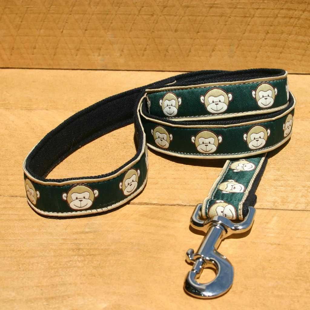 Hemp Dog Leash 6' Emerald Monkey
