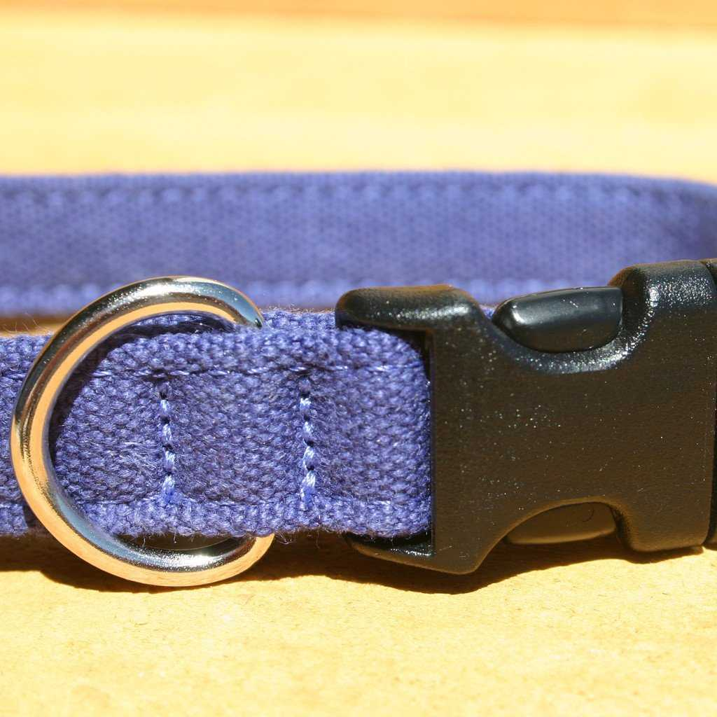 Hemp Dog Collar B;lue Basic