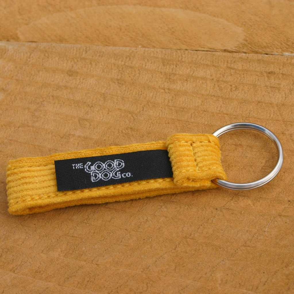 Hemp Key Chain Marigold Corduroy