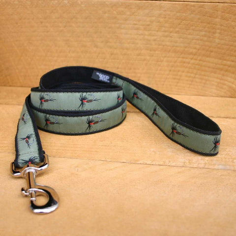 Hemp Dog Leash Olive Fly