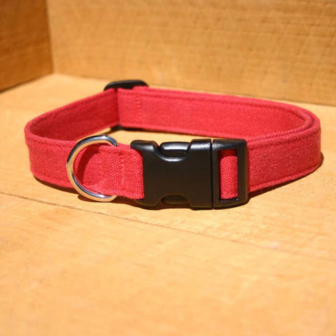Hemp Basic Red Collar | The Good Dog Company