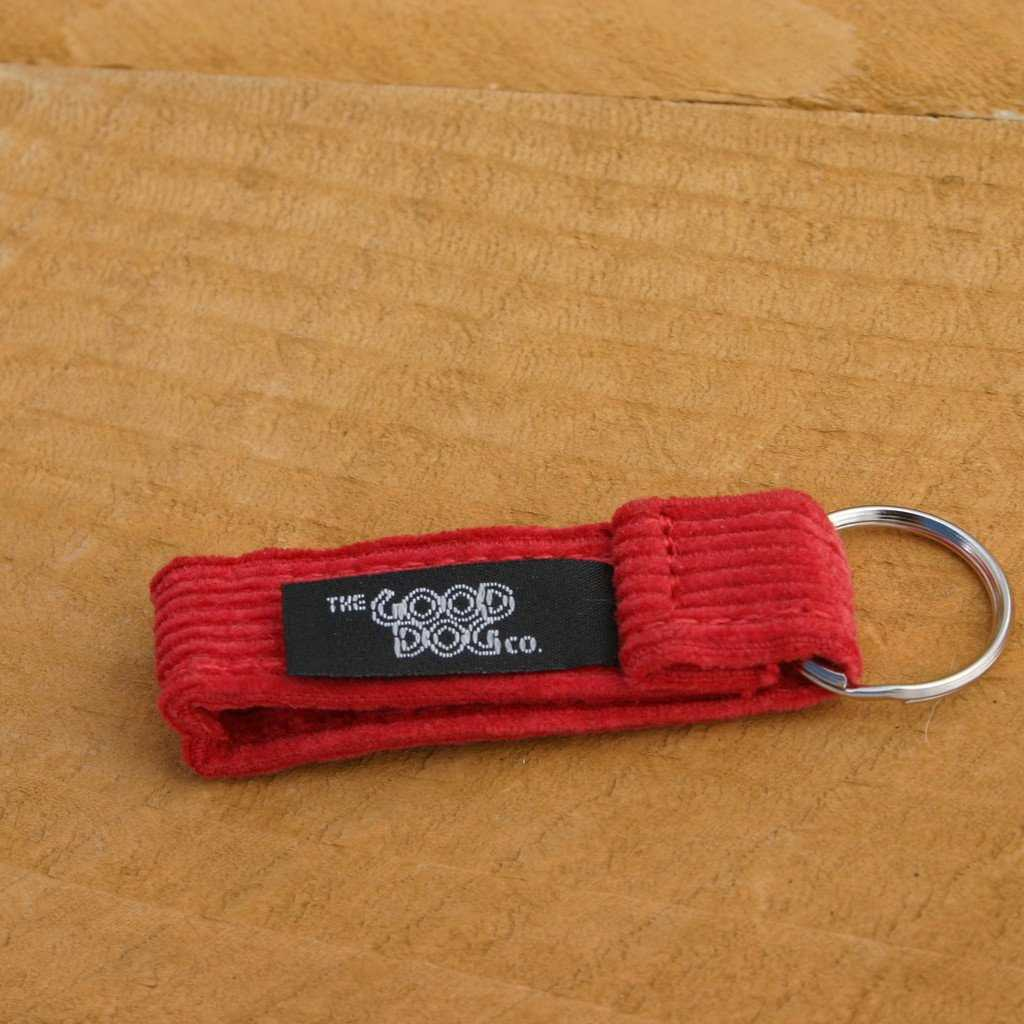 Hemp Key Chain Red Corduroy