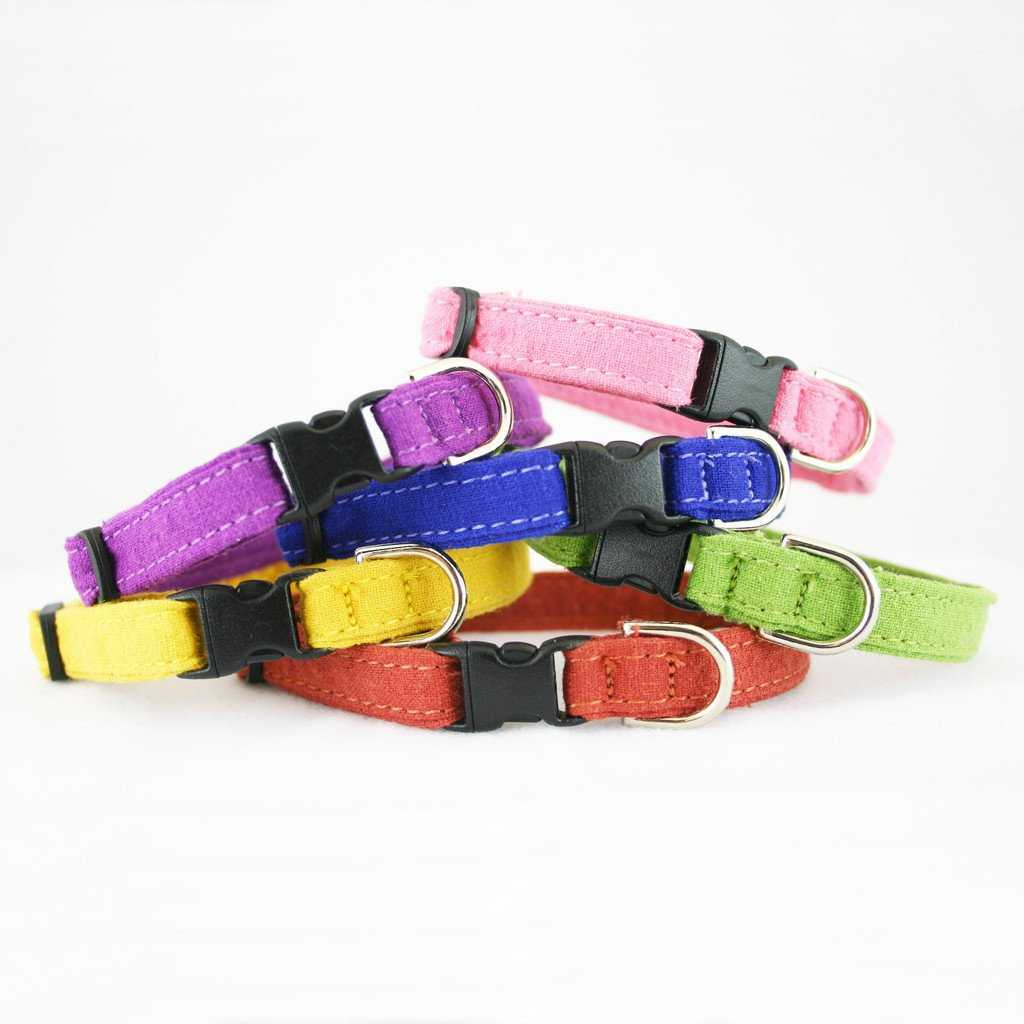 Hemp Toy Dog Collar Various Colors