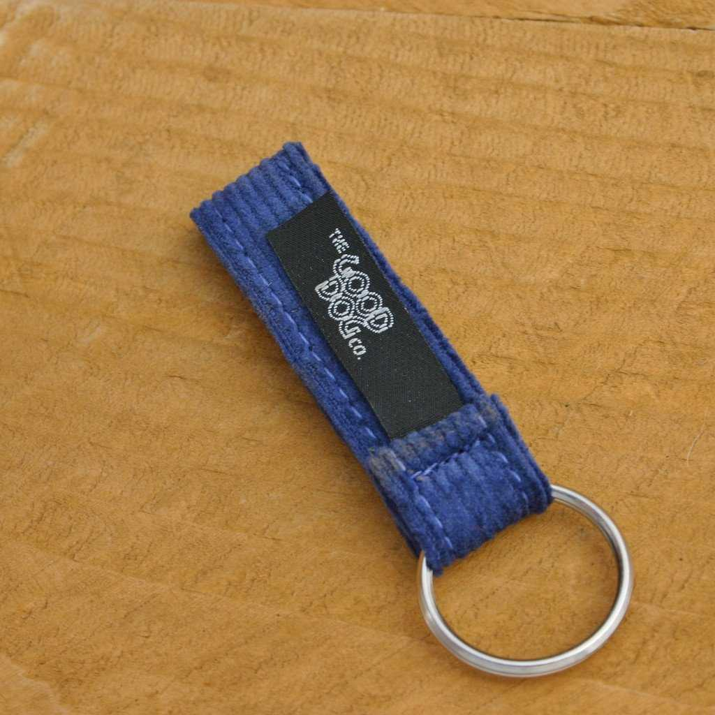 Hemp Key Chain Blue Corduroy