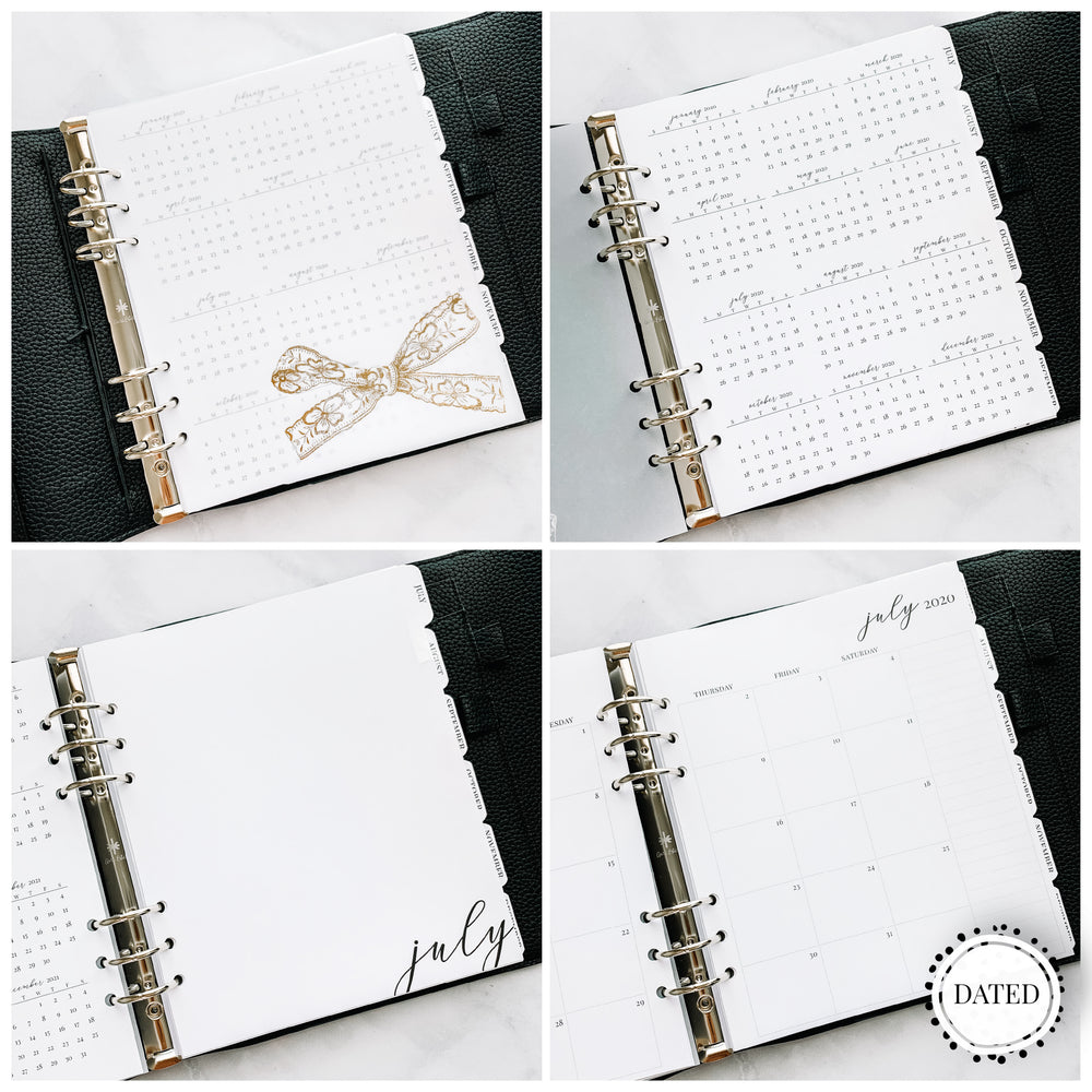 A5 Wide Planner Inserts