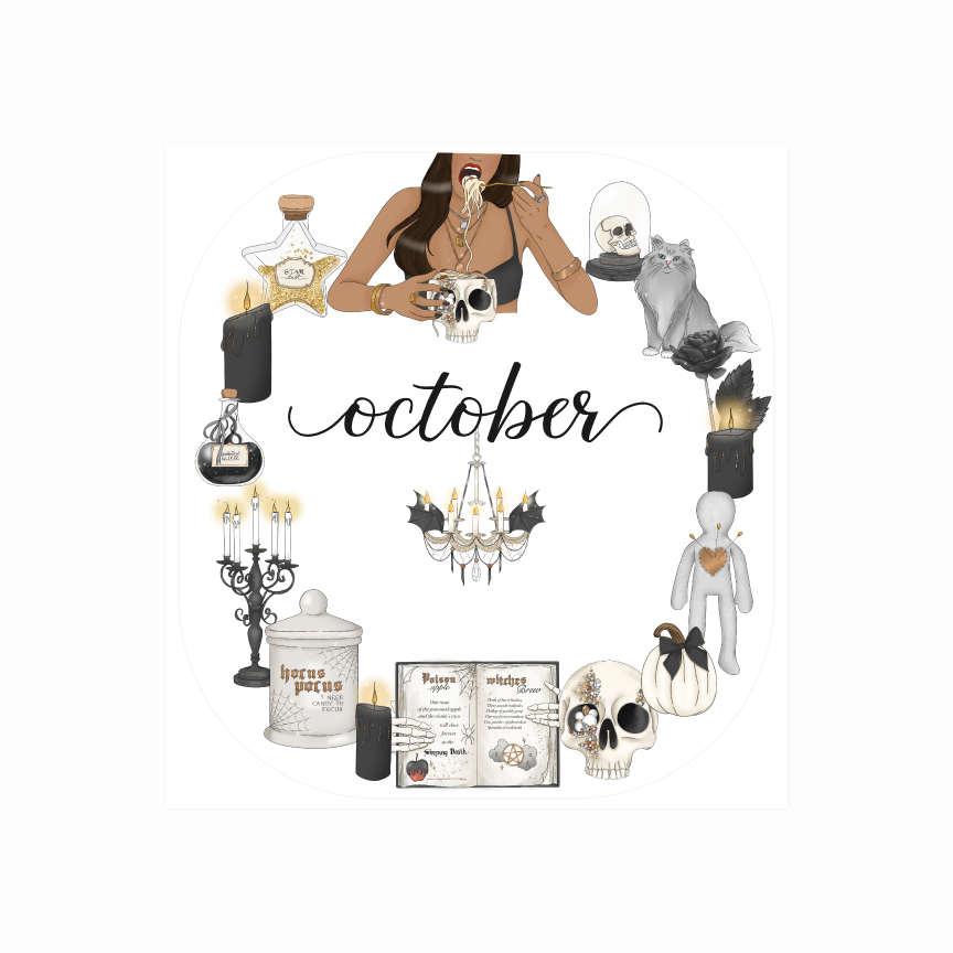 October Wicked Monthly Tab Cover for *NEW 2019/2020 Planners""