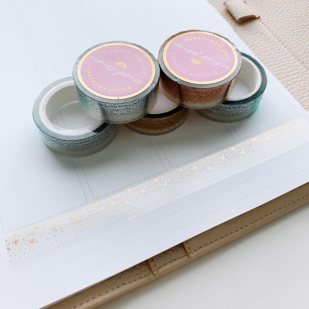 Bow Confetti Bottom Washi 15mm Overlay Tape