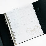 UNDATED Month + Weeks // A5 Wide Planner Inserts
