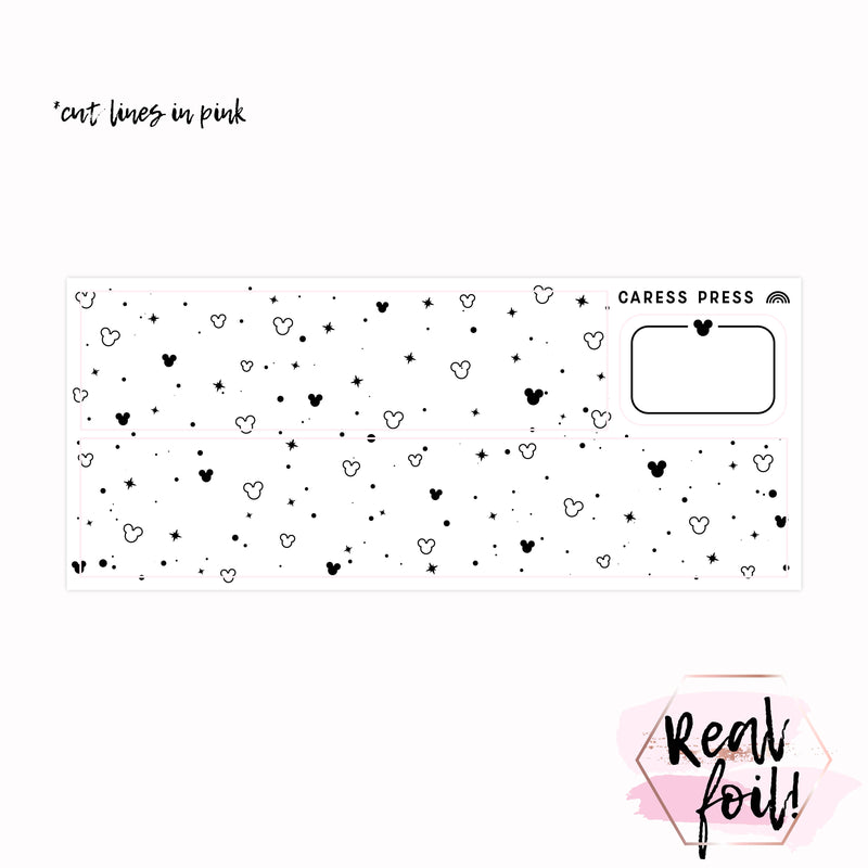 Heart and Bow Checklist Foil Sticker