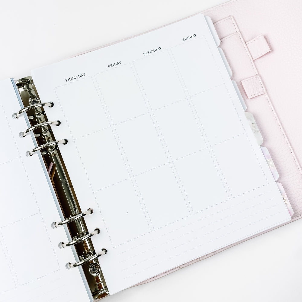 MISFIT UNDATED Continuous Weeks  // A5 Wide Planner Inserts
