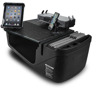 Efficiency GripMaster Black Built-in Power Inverter, Printer Stand, X-Grip Phone Mount and iPad/Tablet Mount