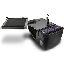 Load image into Gallery viewer, Reach Desk Front Seat Grey Built-in Power Inverter, Printer Stand & X-Grip Phone Mount