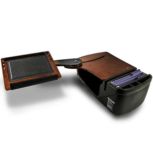 Reach Desk Back Seat Mahogany Built-in Power Inverter & X-Grip Phone Mount*
