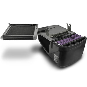 Reach Desk Front Seat Grey Built-in Power Inverter, Printer Stand & Universal iPad/Tablet Mount