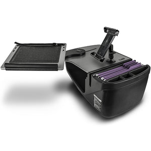 Reach Desk Front Seat Grey Built-in Power Inverter, Printer Stand, X-Grip Phone Mount & Universal iPad/Tablet Mount