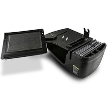 Load image into Gallery viewer, Reach Desk Front Seat Black Built-in Power Inverter & X-Grip Phone Mount