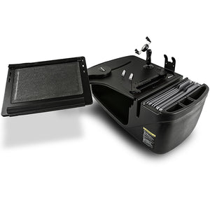 Reach Desk Front Seat Black Built-in Power Inverter, Printer Stand, X-Grip Phone Mount & Universal iPad/Tablet Mount