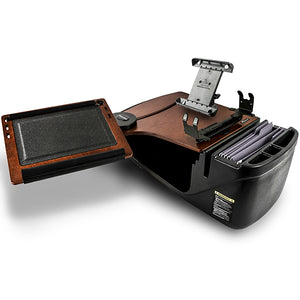 Reach Desk Front Seat Mahogany Built-in Power Inverter & Universal iPad/Tablet Mount