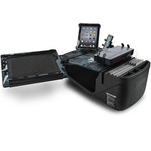 Load image into Gallery viewer, Reach Desk Front Seat Urban Camouflage Built-in Power Inverter, Printer Stand & Universal iPad/Tablet Mount