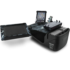 Reach Desk Front Seat Urban Camouflage Built-in Power Inverter, Printer Stand & Universal iPad/Tablet Mount