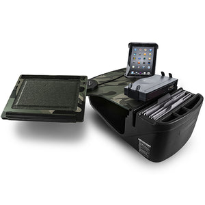 Reach Desk Front Seat Green Camouflage Printer Stand & Universal iPad/Tablet Mount