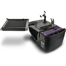 Load image into Gallery viewer, Reach Desk Front Seat Black Built-in Power Inverter & Printer Stand