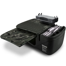 Load image into Gallery viewer, GripMaster Green Camouflage Built-in Power Inverter, Printer Stand, X-Grip Phone Mount & Tablet Mount