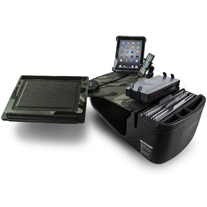 Reach Desk Front Seat Green Camouflage Printer Stand, X-Grip Phone Mount & Universal iPad/Tablet Mount