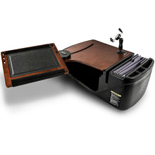 Load image into Gallery viewer, Reach Desk Front Seat Mahogany Built-in Power Inverter & Printer Stand