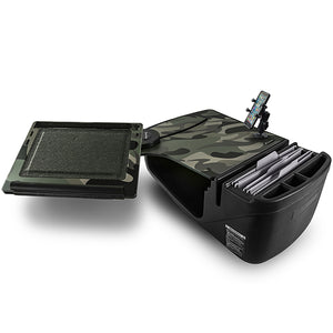 Reach Desk Front Seat Green Camouflage Built-in Power Inverter & X-Grip Phone Mount