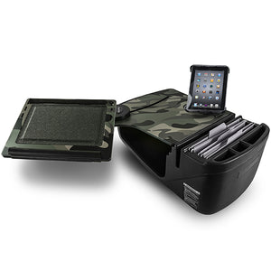 Reach Desk Front Seat Green Camouflage Built-in Power Inverter & Universal iPad/Tablet Mount