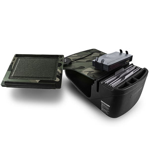 Reach Desk Front Seat Green Camouflage Built-in Power Inverter & Printer Stand