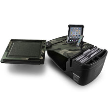 Load image into Gallery viewer, Reach Desk Front Seat Green Camouflage Built-in Power Inverter, X-Grip Phone Mount & Universal iPad/Tablet Mount
