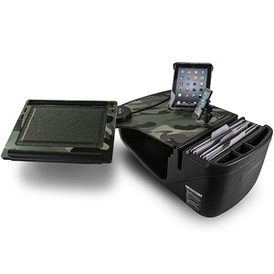 Reach Desk Front Seat Green Camouflage Built-in Power Inverter, X-Grip Phone Mount & Universal iPad/Tablet Mount