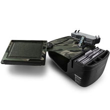 Load image into Gallery viewer, Reach Desk Front Seat Green Camouflage Built-in Power Inverter, Printer Stand & X-Grip Phone Mount